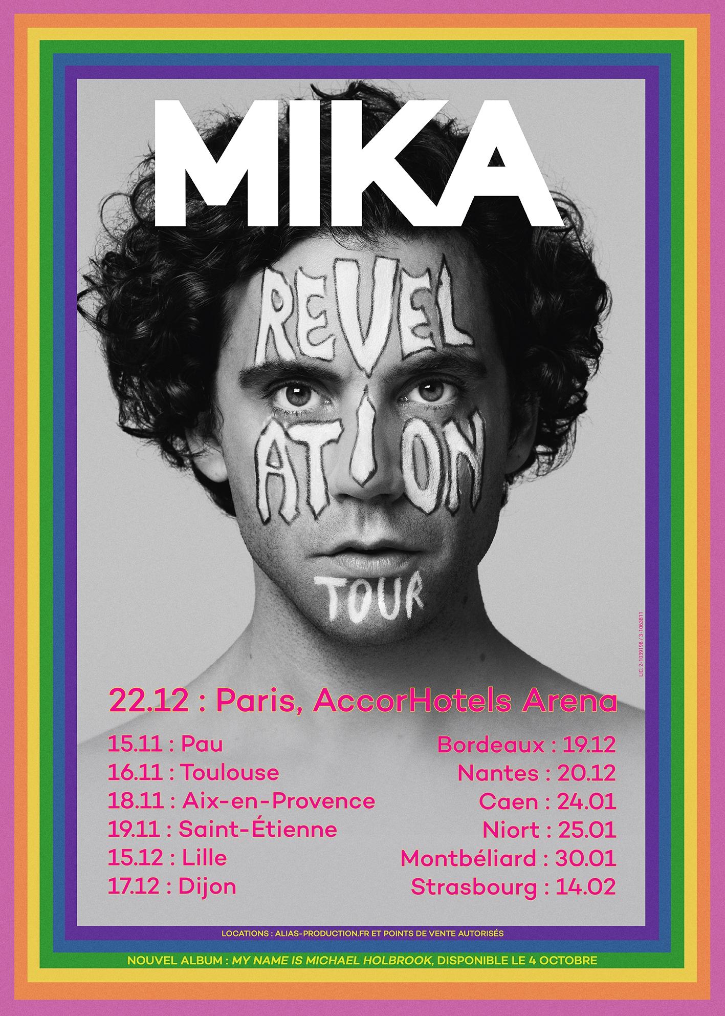 mika revelation tour 2019 concert tournée