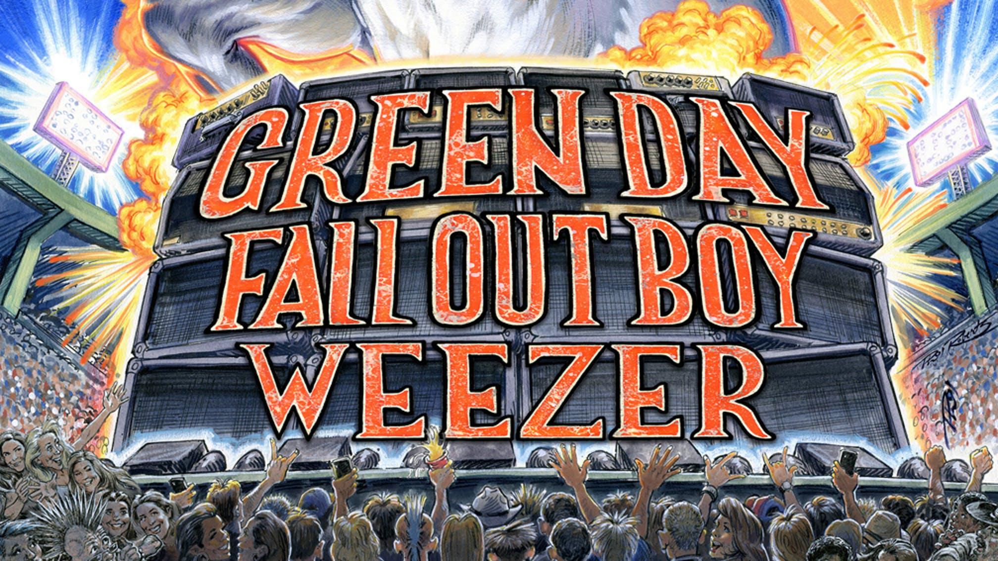 hella mega tour paris green day fall out boy weezer