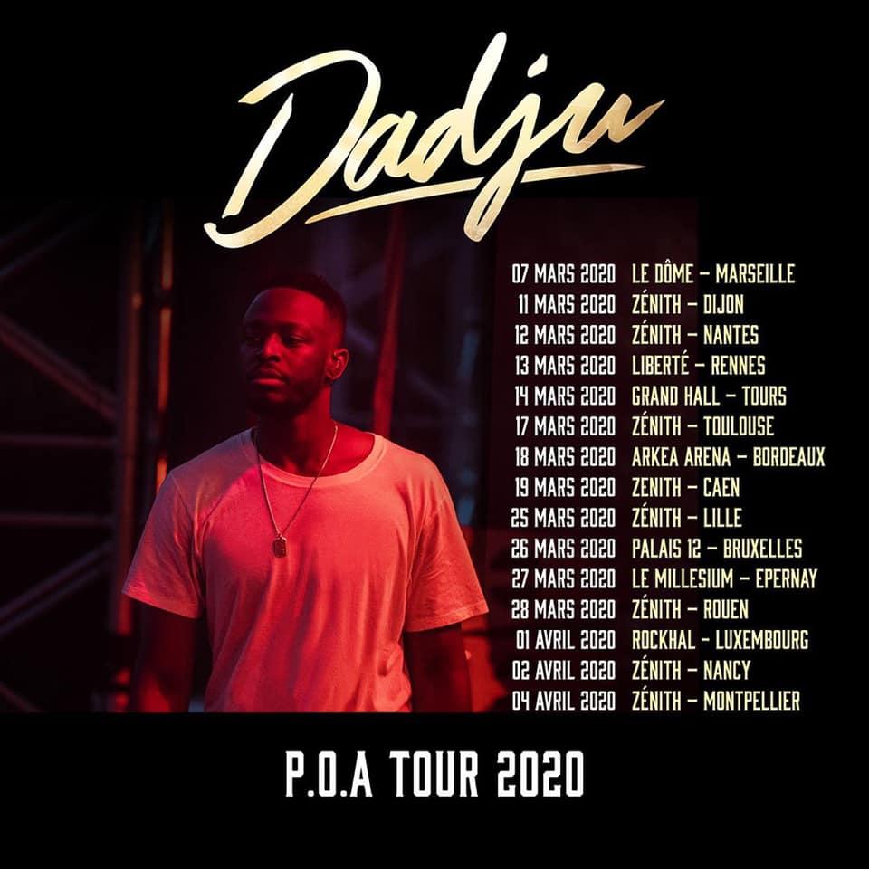 dadju poa tour 2020 dates tournée