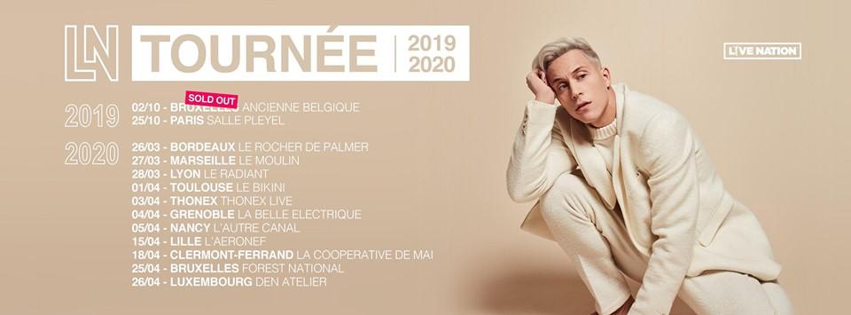 loïc nottet tournée 2019 2020