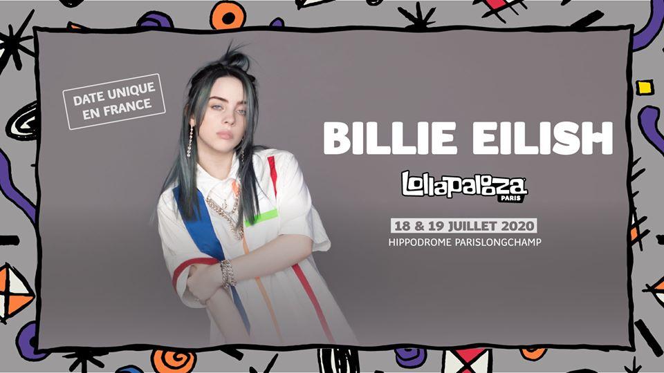 billie eilish lollapalooza 2020 where do we go tour