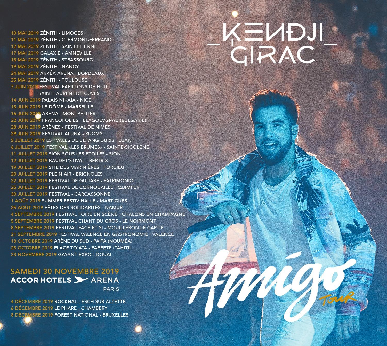kendji girac tournée amigo tour 2019