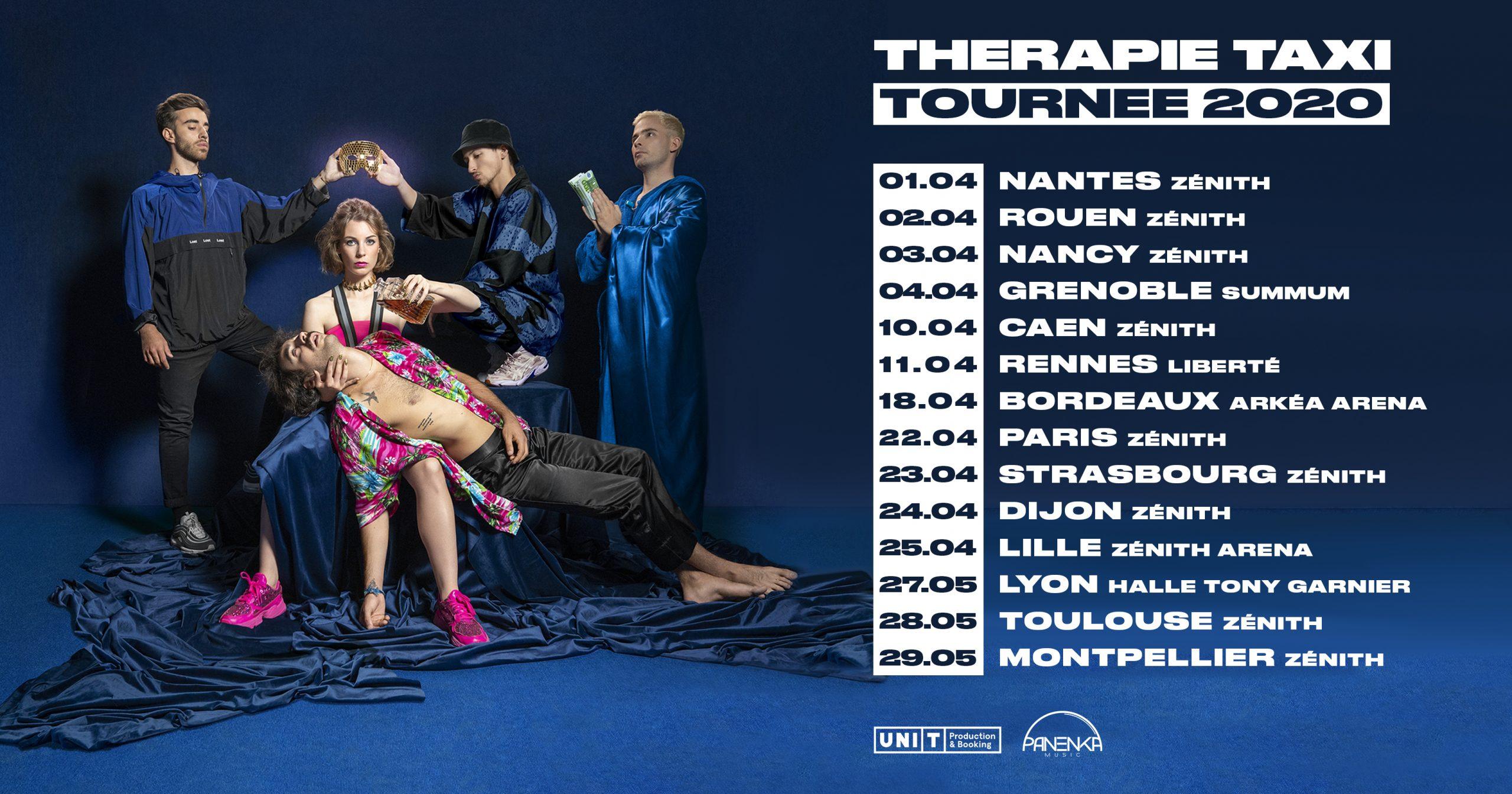 therapie taxi tournée 2020
