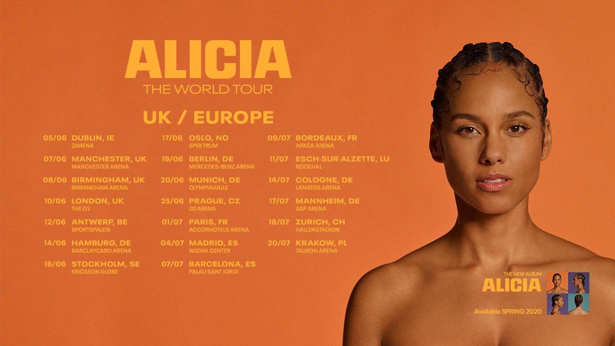 alicia keys uk europe world tour
