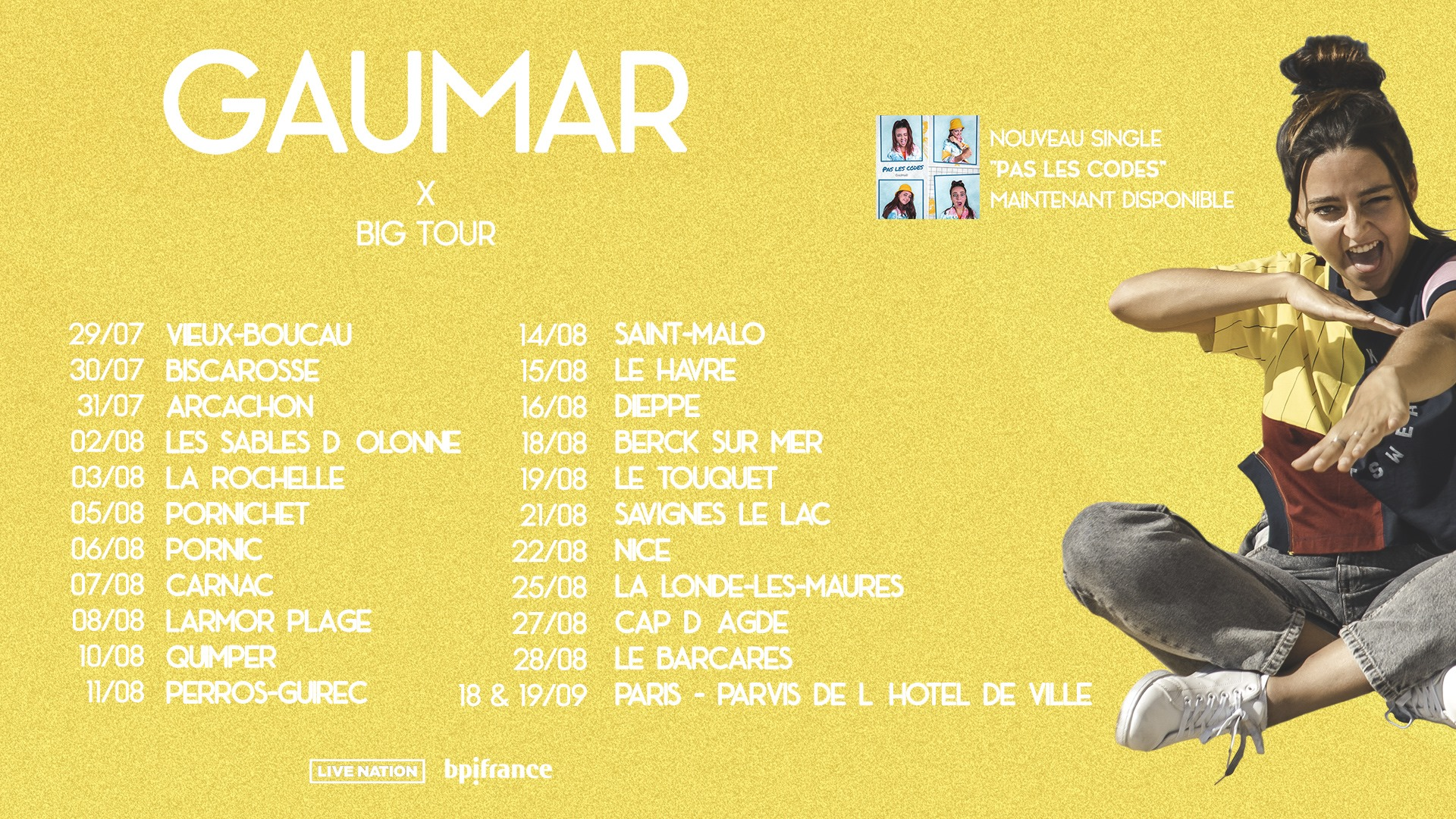 gaumar big tour summer 2020