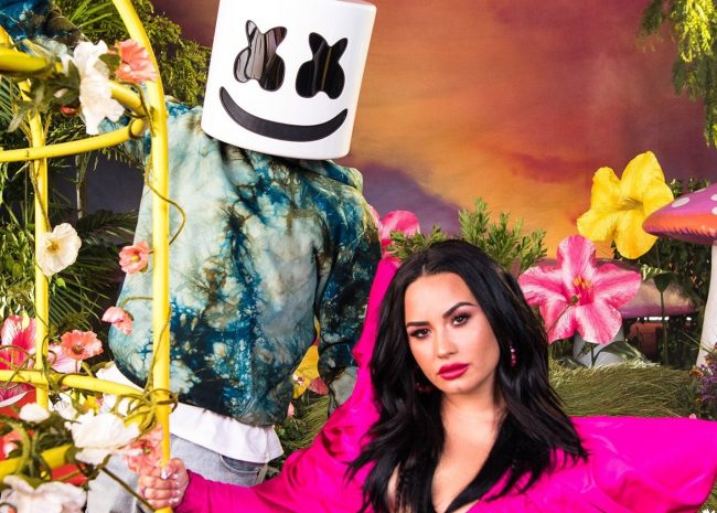 marshmello demi lovato clip ok not to be ok hope for the day