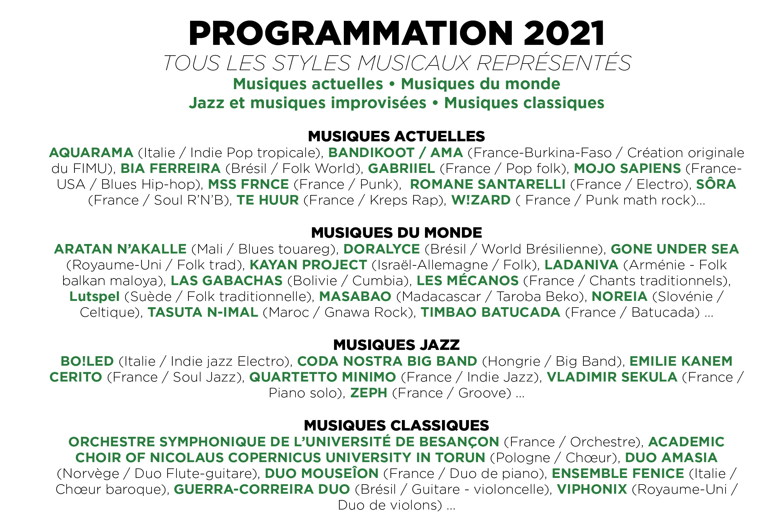 fimu 2021 belfort programmation